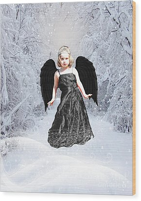 Dark Fairy Wood Print by ChelsyLotze International Studio
