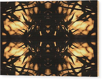 Dark Flame Of Nature Wood Print