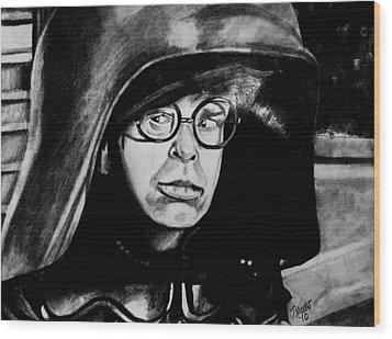 Dark Helmet Wood Print by Jeremy Moore