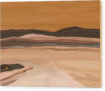 Dark Hills Wood Print by Tim Stringer