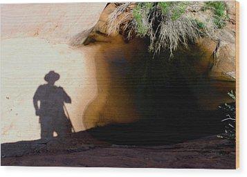 Dark Hourse Water Hole Wood Print