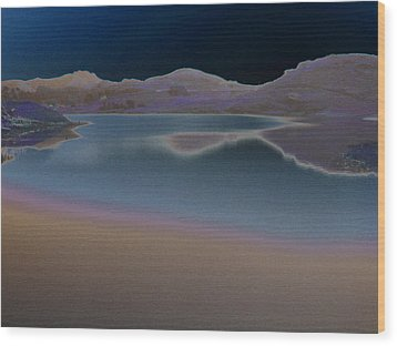 Dark Lake Wood Print