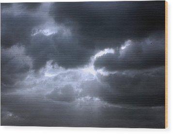 Wood Print featuring the photograph Dark Light by Allen Carroll