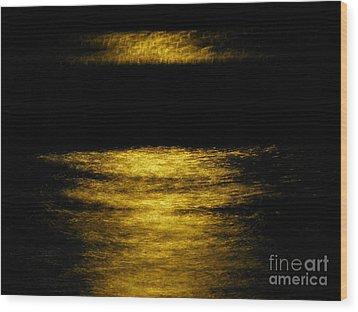 Dark Pool Wood Print by Tyler Ash