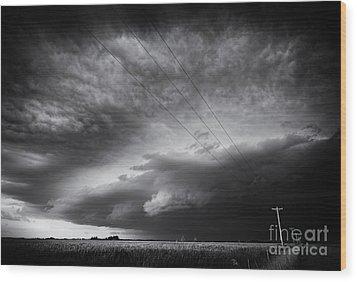Dark Prairie Wood Print by Dan Jurak