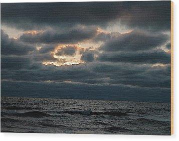 Dark Sea Wood Print