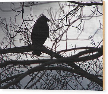 Wood Print featuring the photograph Dark Sentinel by Brian Stevens