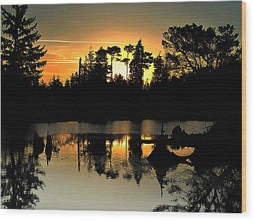 Dark Shadows Wood Print