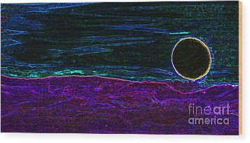 Dark Side Of The Moon By Jrr Wood Print by First Star Art