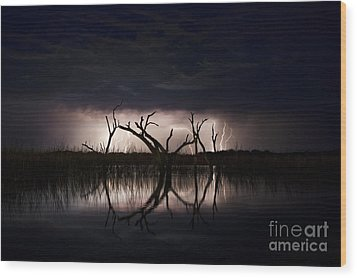 Dark Skies Wood Print