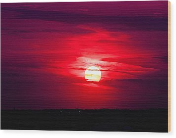 Wood Print featuring the photograph Dark Sunset by Julie Andel