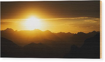 Dark Sunset Over The Matzatzals Wood Print
