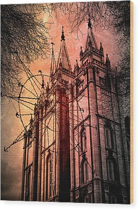 Wood Print featuring the photograph Dark Temple by Jim Hill