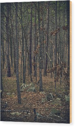 Wood Print featuring the photograph Dark Woods by Yvonne Emerson AKA RavenSoul