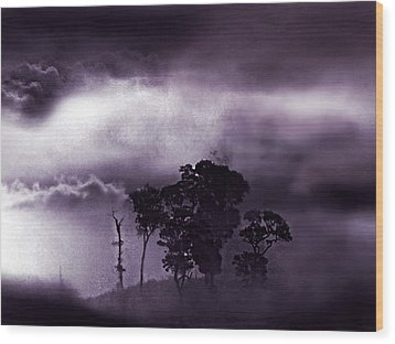 Wood Print featuring the painting Dark World by Persephone Artworks