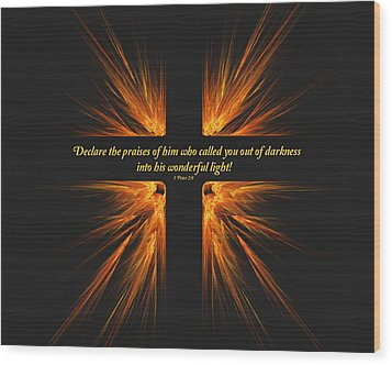 Darkest Day Brightest Light Wood Print by R Thomas Brass