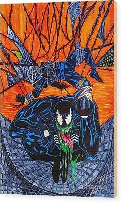 Darkhawk Issue 13 Homage Wood Print