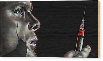 Darkly Dreaming Dexter Wood Print by Vinny John Usuriello