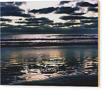 Darkness Can Only Be Scattered By Light Wood Print by Sharon Soberon