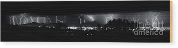 Wood Print featuring the photograph Darkness Symphony-15x72-signed by J L Woody Wooden