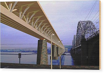 Darnitsky Bridge Wood Print