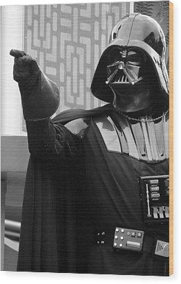Darth Vader Wood Print by Ramona Johnston