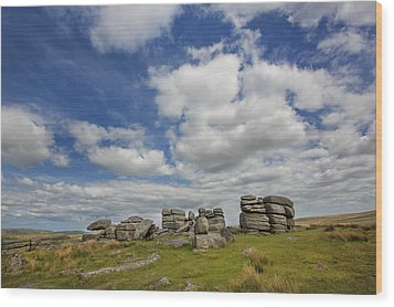 Dartmoor Tor Wood Print
