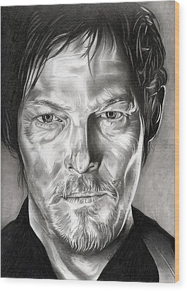 Daryl Dixon - The Walking Dead Wood Print by Fred Larucci