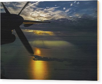 Dash Of Sunset Wood Print by Greg Reed
