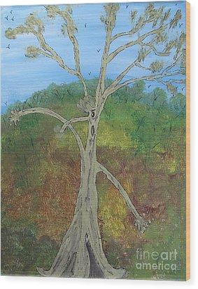 Dash The Running Tree Wood Print