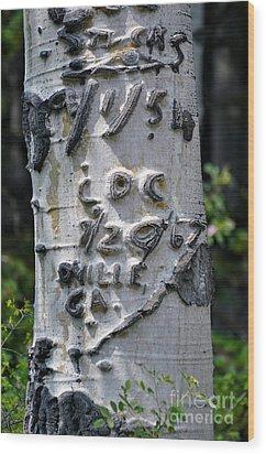 Dated Tree Wood Print