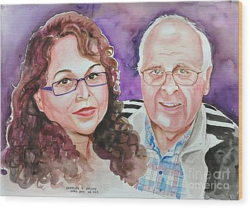 Dave And Cecile Wood Print