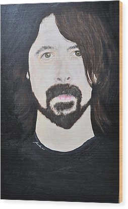 Dave Grohl Portrait Wood Print