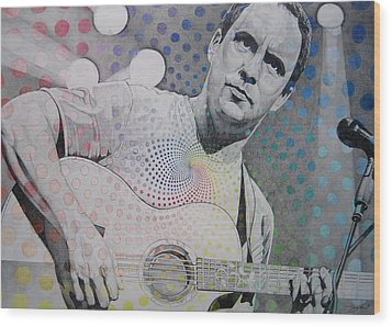 Dave Matthews All The Colors Mix Together Wood Print by Joshua Morton