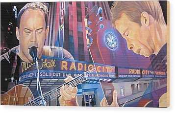 Dave Matthews And Tim Reynolds At Radio City Wood Print by Joshua Morton