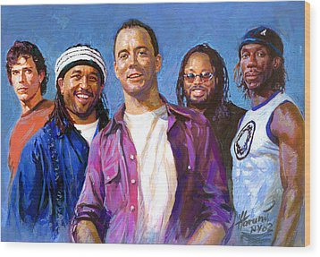 Dave Matthews Band Wood Print by Viola El
