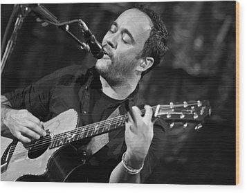 Dave Matthews On Guitar 2 Wood Print by Jennifer Rondinelli Reilly - Fine Art Photography