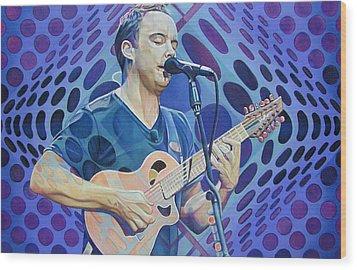 Dave Matthews Pop-op Series Wood Print by Joshua Morton