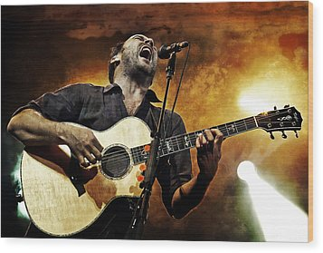 Dave Matthews Scream Wood Print by Jennifer Rondinelli Reilly - Fine Art Photography