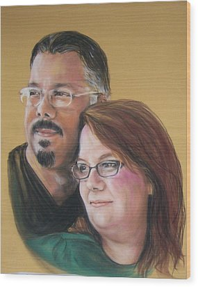 David And Laura Wood Print by Martha Suhocke