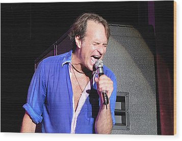 David Lee Roth 004 Wood Print by Artistic Photos