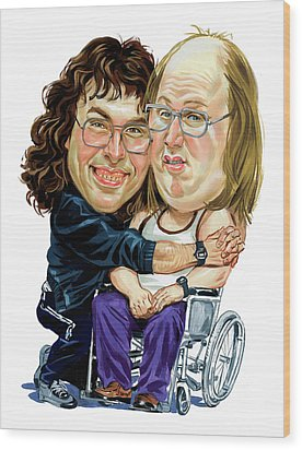 David Walliams And Matt Lucas As Lou And Andy Wood Print by Art