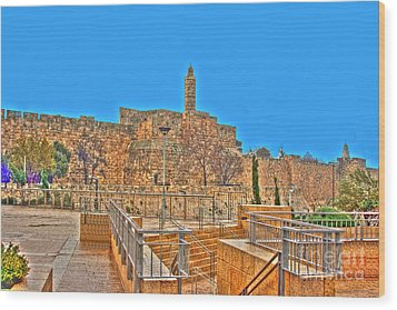 Wood Print featuring the photograph Davids Citadel - Israel by Doc Braham