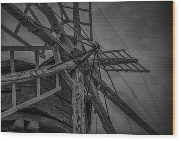 Davidson Windmill Wood Print by Paul Freidlund