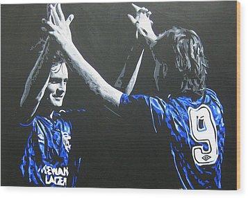Davie Cooper - Ally Mccoist - Glasgow Rangers Fc Wood Print