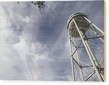 Davis Water Tower Wood Print by Juan Romagosa