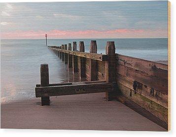 Dawlish Warren At Dawn Wood Print by Pete Hemington