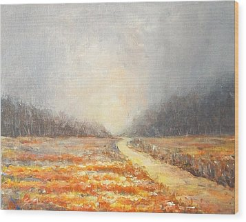 Wood Print featuring the painting Dawn 1 by Jane  See