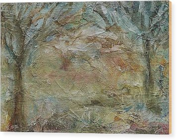 Wood Print featuring the painting Dawn 2 by Mary Wolf