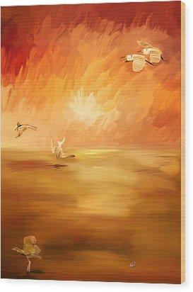 Dawn Wood Print by Angela A Stanton